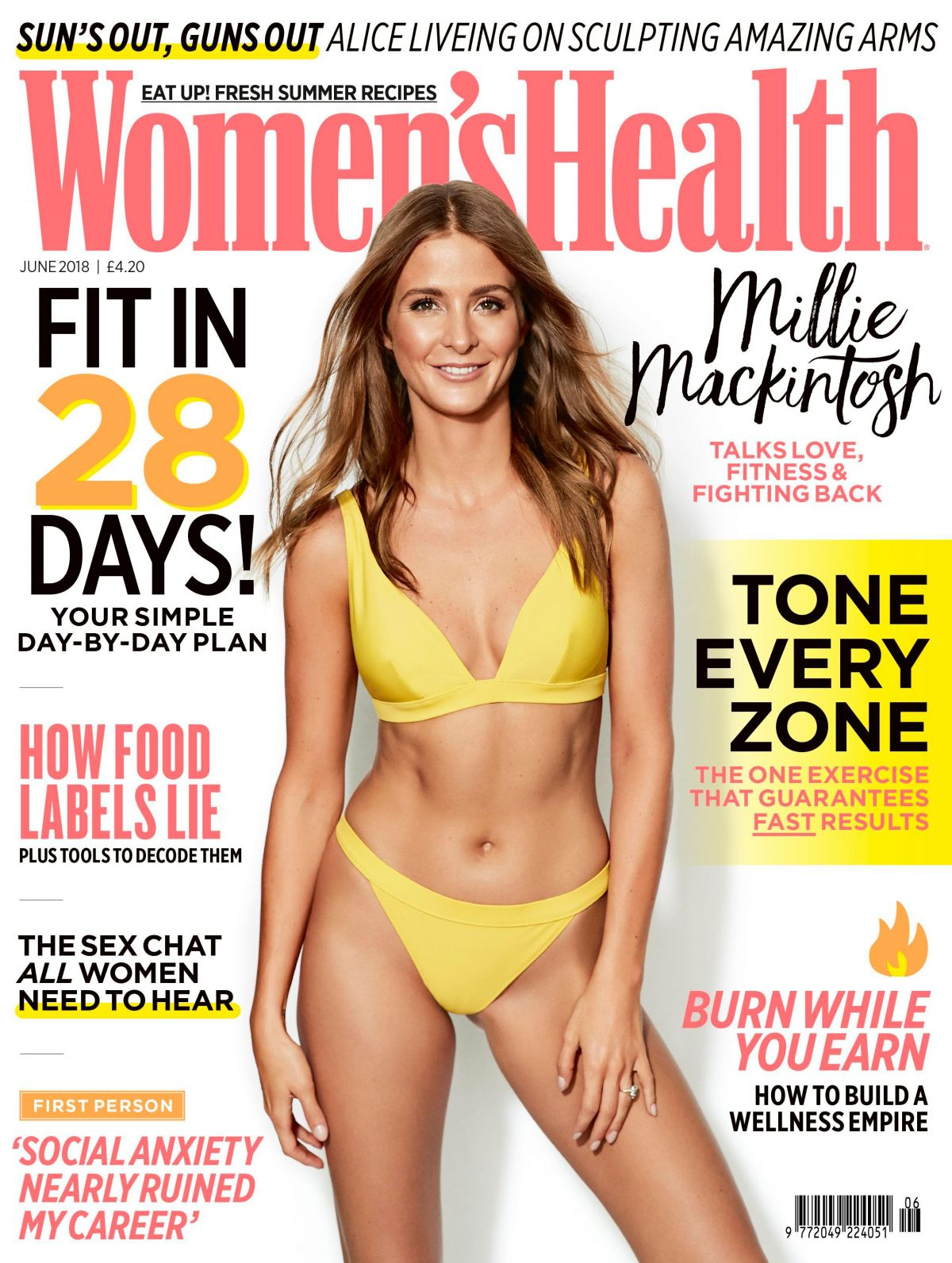 Millie Mackintosh in Women's Health Magazine, UK June 2018 Issue