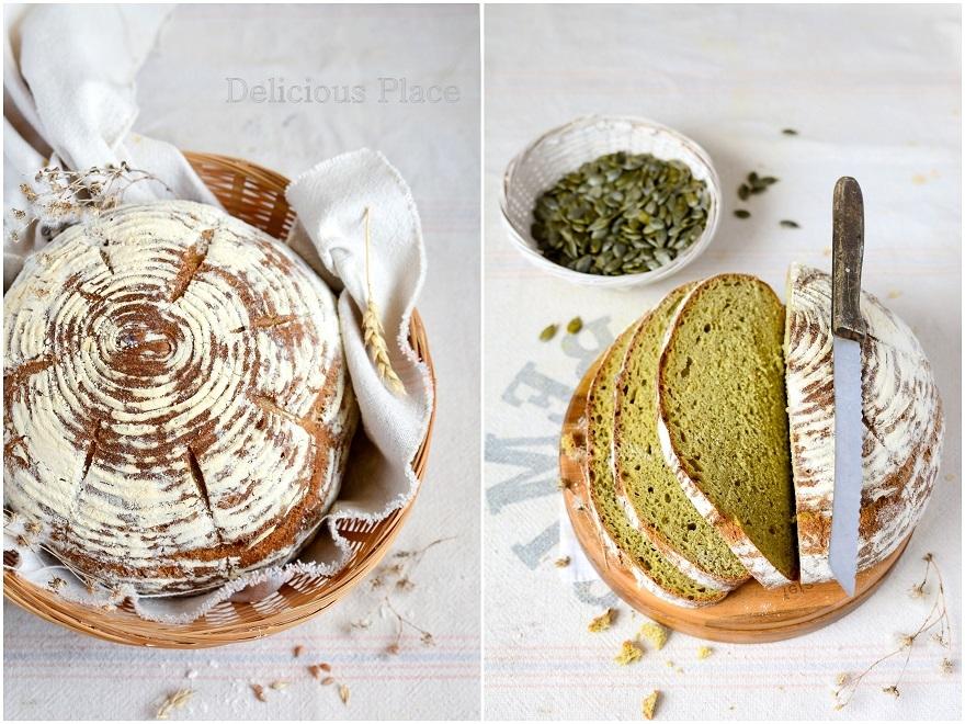 Chleb pszenno-dyniowy na zakwasie