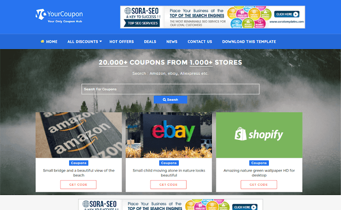 Your Coupon Blogger Template Responsive