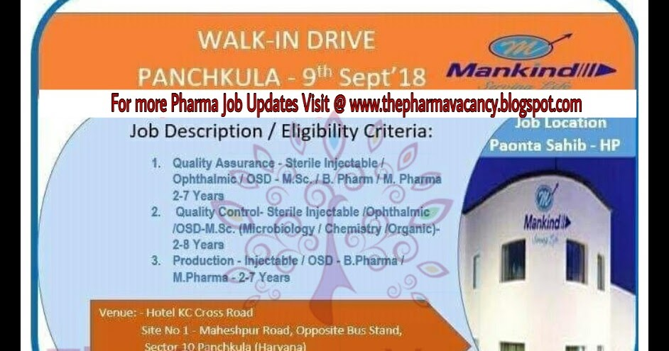 Mankind | Walk-In for Multiple Positions | 9th September, 2018 ...