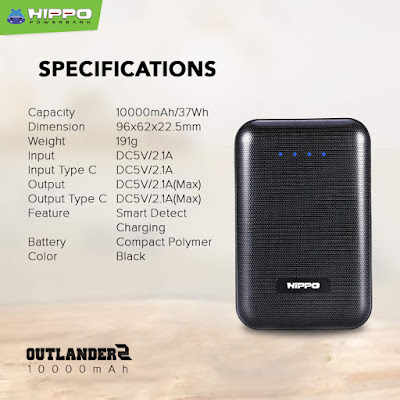 HIPPO Powerbank HIPPO Outlander2 Compact The Latest Compact Powerbank