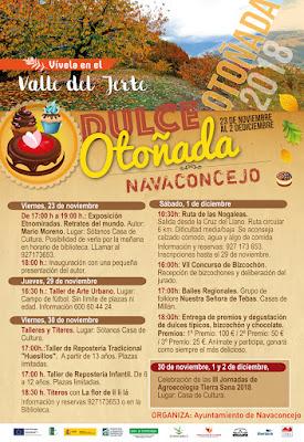 Dulce Otoñada (30 noviembre, 1 y 2 diciembre 2018) Navaconcejo