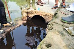 """Temukan Pipa """"Siluman"""" Diduga Alirkan Limbah Industri ke Sungai Cileungsi. Panji: Sudah Koordinasi dengan DLH Kab. Bogor"""