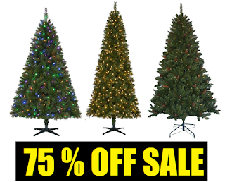 75 off christmas trees sale 65 foot jackson spruce artificial pre lit christmas tree with clear lights and pinecones 2975 75 wesley slim spruce