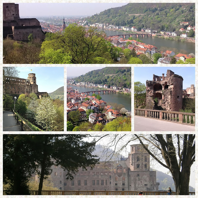 Spring in historic Heidelberg - Heidelberg Castle and Old Town