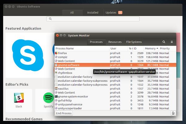 премахване на Ubuntu software center