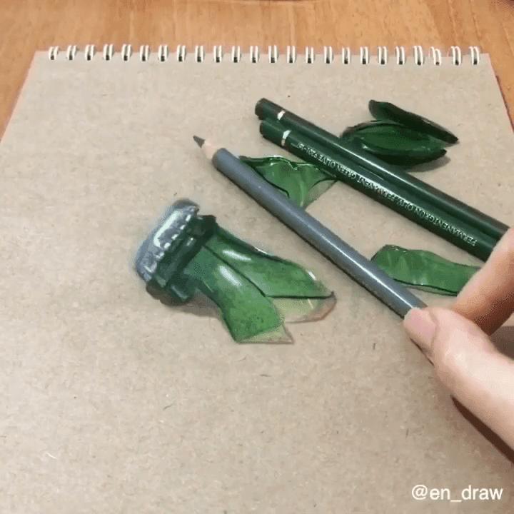 20-Green-bottle-Shards-Reveal-Elif-Nihan-Sahin-3D-Drawing-www-designstack-co