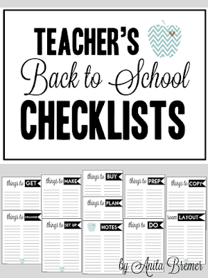 FREE Teacher back to school lists