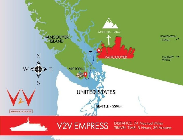 v2v vacations route map