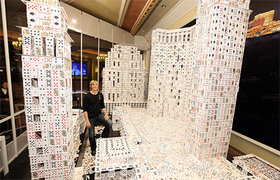 Largest Playing Cards Structure - World Record