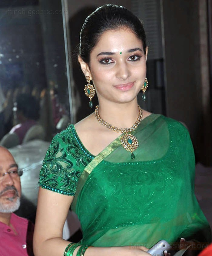 Tamanna In Saree In Rebel: Tamanna Hot Saree Stills In An Event