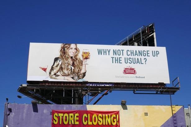 Sarah Jessicas Parker Stella Artois Carrie Bradshaw billboard