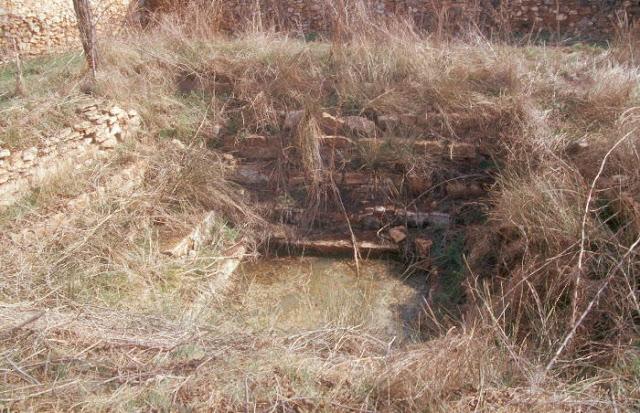 Piscina en ruinas de Baños de San Cristóbal, Pozuelo de Cva