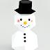 DIY - Geometryczny Papierowy Bałwanek. Geometric Snowman made of paper.