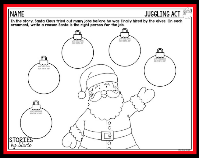 This graphic organizer can be used with How Santa Got His Job by Stephen Krensky.