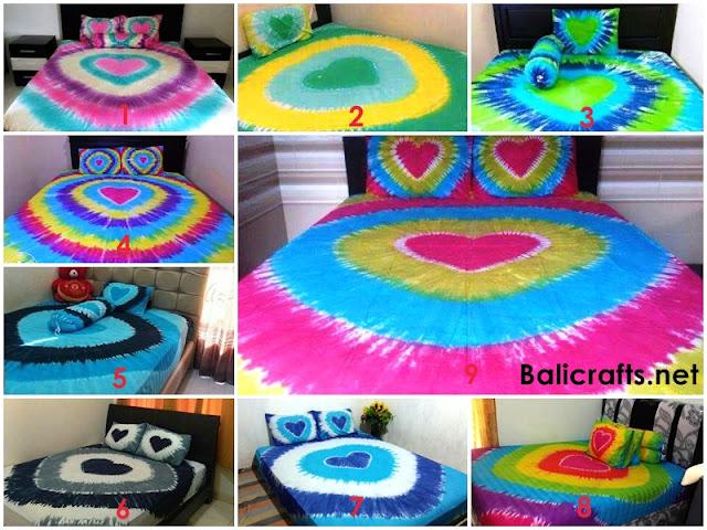 Seprai Bali Motif Love Ukuran 120 X 200