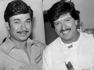 Vishnuvardhan  with Rajkumar