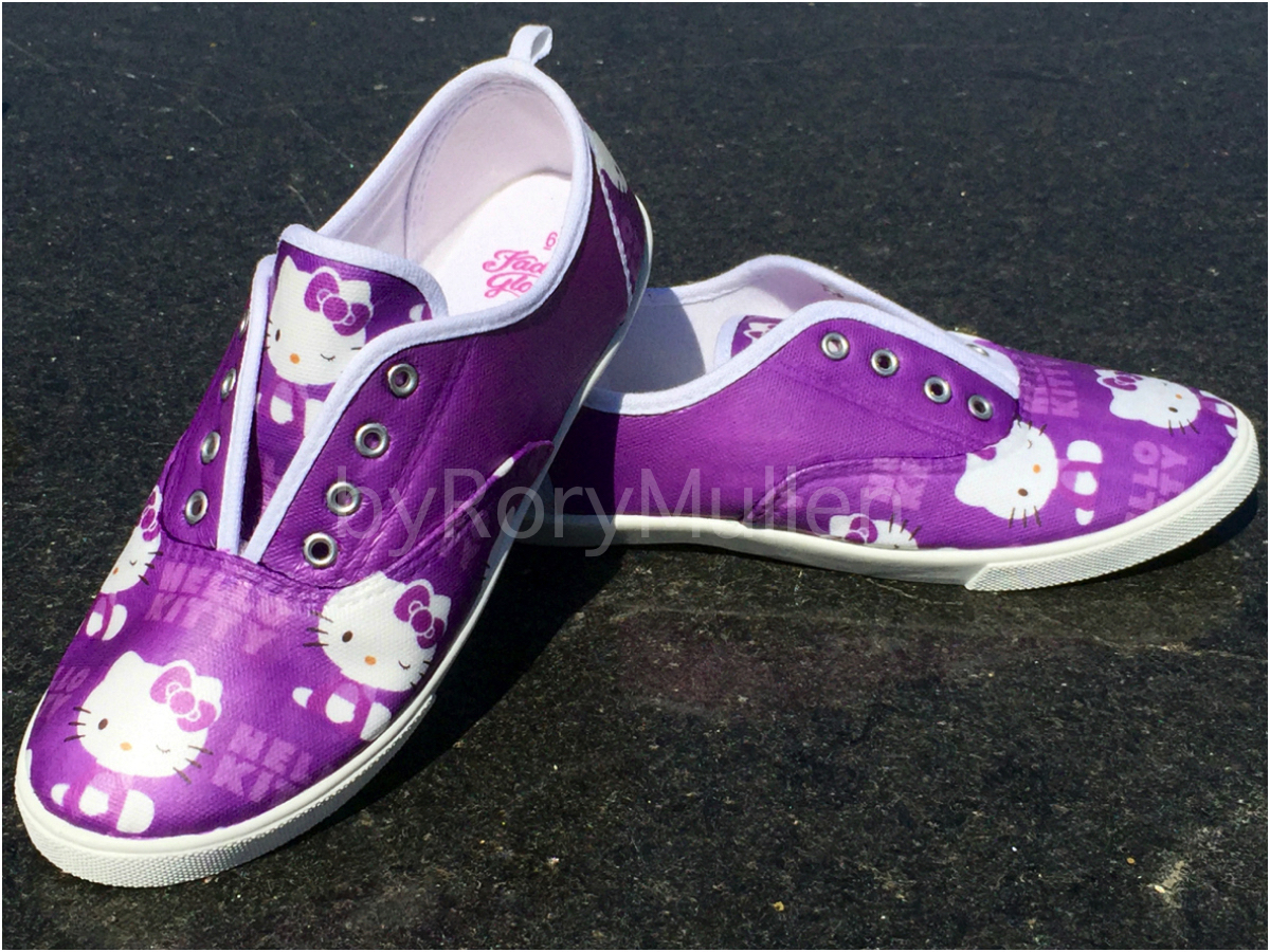 1fb5af59a I created these Hello Kitty canvas shoes nearly the same way I did the  Powerpuff Yourself pair. However, instead of using a downloaded image (like  a ...
