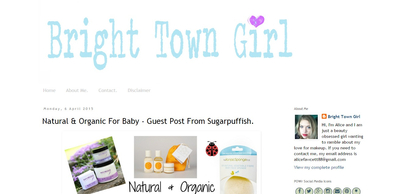 Sugarpuffish Guest Post Natural & Organic Skincare for Baby