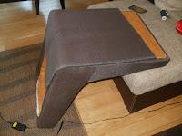 szycie tapicerki do fotela z PRL