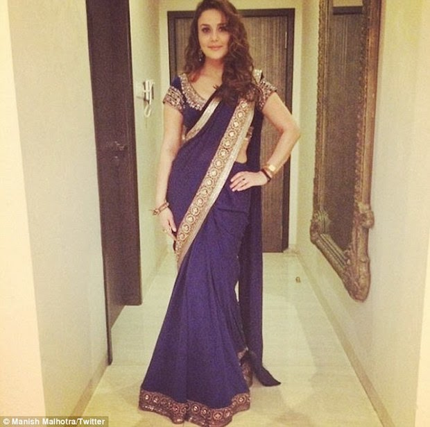 Preity Zinta in one of Manish designed dresses