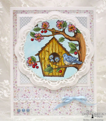 Our Daily Bread Designs, Birdhouse, Doily, Pierced Squares, Double Stitched Circles, Pierced Rectangles, Bitty Borders, Squares, Pastel Paper Pack, Easter Card Collection, by Robin Clendenning