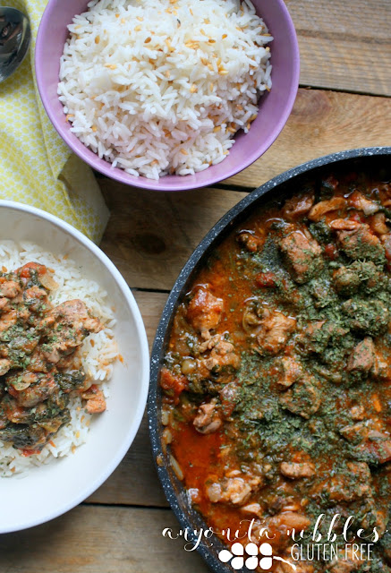 Skinny Chicken Curry with Lineseed Basmati Rice from Anyonita Nibbles