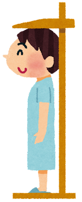 身長測定のイラスト(健康診断)