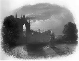 Newstead Abbey  from The life of Byron by Thomas Moore (1849)