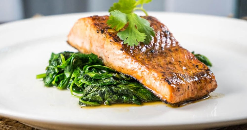 Enjoy My Food Recipes Salmon With Spinach Saute