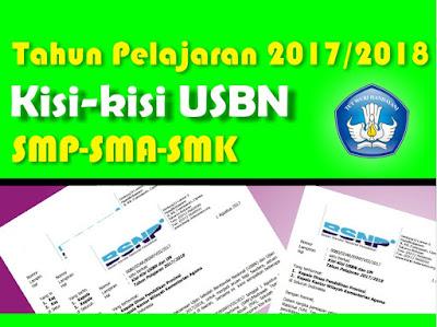 merupakan yang kedua kali dilaksanakan di Indonesia Kisi-Kisi Soal USBN SMP, SMA, dan SMK 2017/2018 BSNP