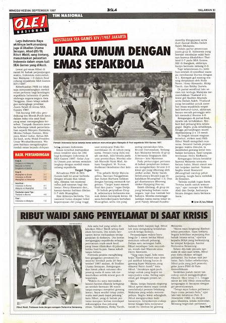 TIM NASIONAL: NOSTALGIA SEA GAMES XIV/1987 JAKARTA