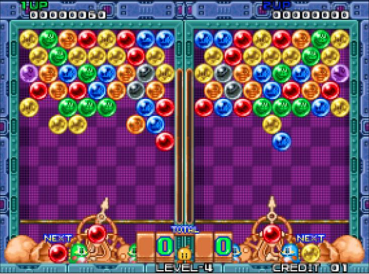 Bubble bobble hero 2 gameplay (pc game, 1999) best working.