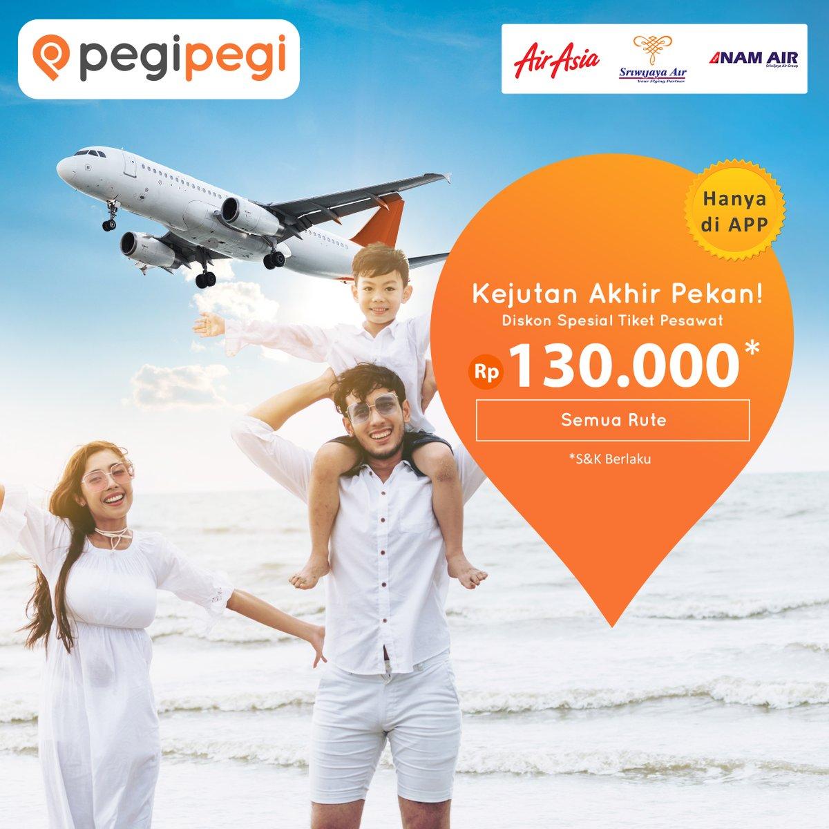 PegiPegi - Promo Tiket Semua Rute 130 Ribu Untuk AirAsia, Sriwijaya Air, dan NAM Air