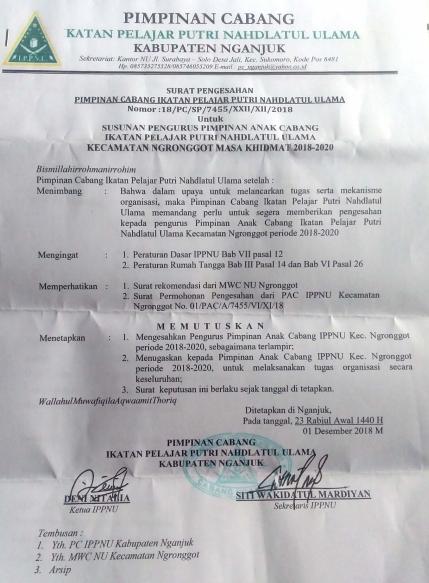 Contoh Surat Rekomendasi Dari Mwc Nu : 1 Surat Ke Cabang - Kantor camat gegerjalan raya ponorogo ...