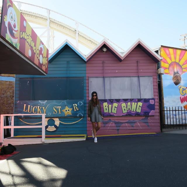 inside luna park, St Kilda's beach, Melbourne