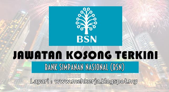 Jawatan Kosong Terkini 2016 di Bank Simpanan Nasional