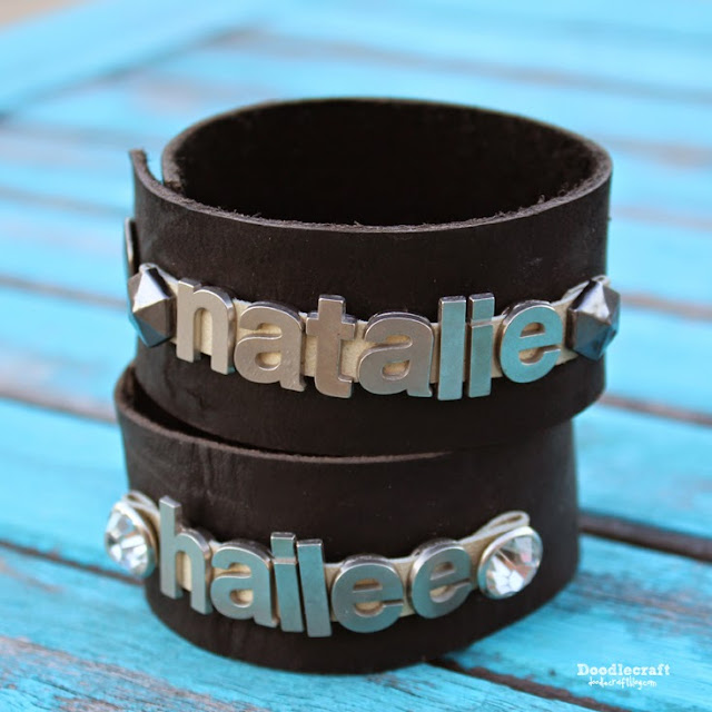 http://www.doodlecraftblog.com/2015/06/leather-name-cuff.html