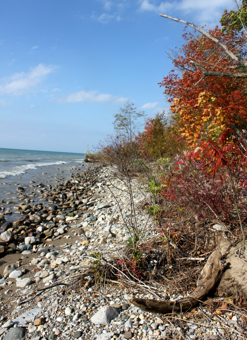 Lake Huron in the fall