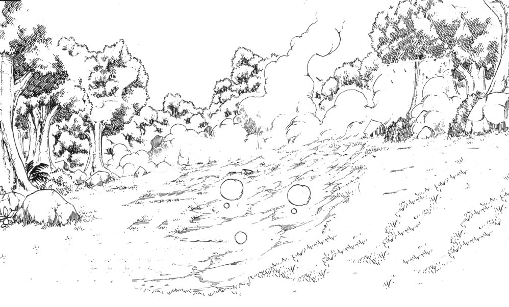 It is an image of Influential Smoke Cloud Drawing