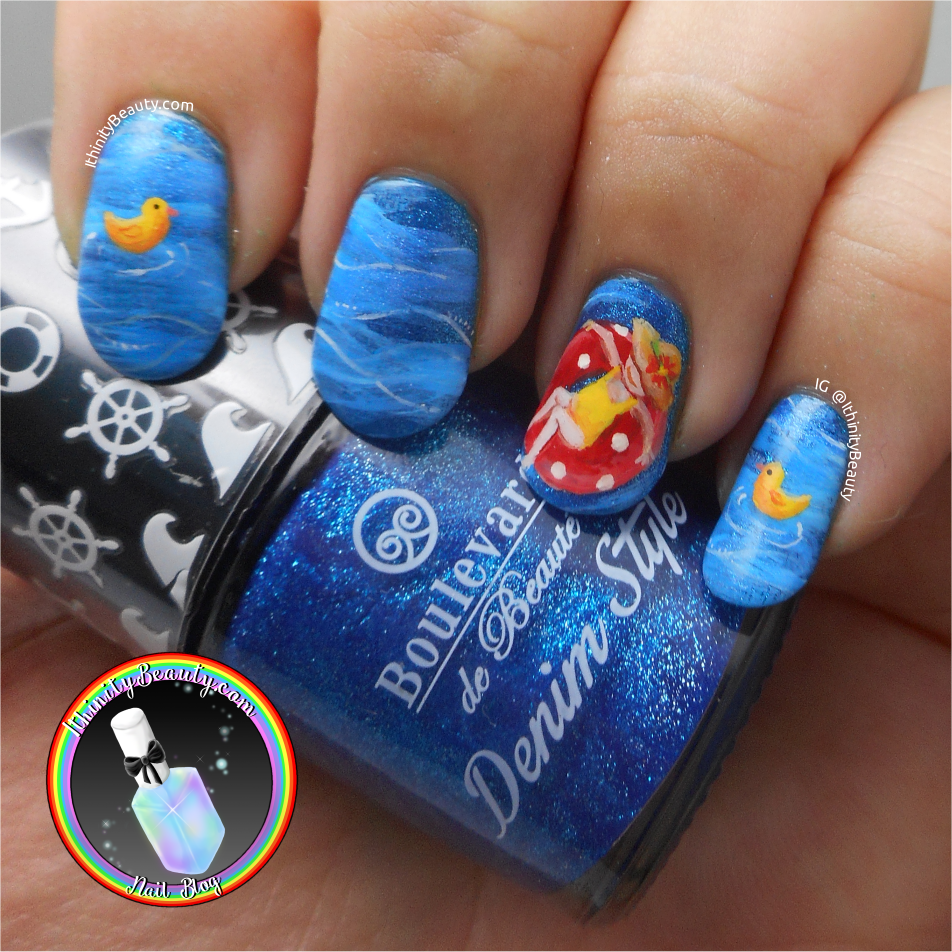 Summertime Swimming Pool Rubber Ring Nail Art Ithinitybeauty