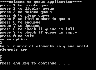 queue display c++ project
