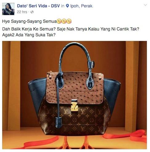 'Dr Vida' Mahu Sedekah Beg Louis Vuitton
