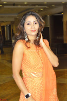 Bhanu Priya in Oreange Ethnic Anarkali Dress 05.JPG