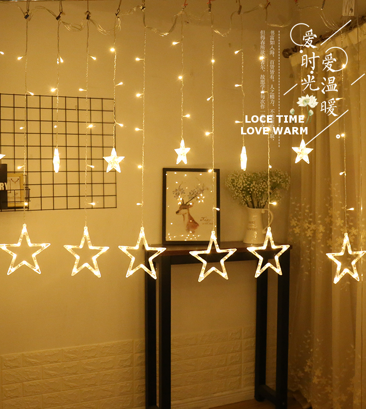 This LED STAR CURTAIN LIGHT Will Create Awesome Visual Effects For Any Occasion And Feast Your EyesIts Attractive Super Bright Perfect Festival