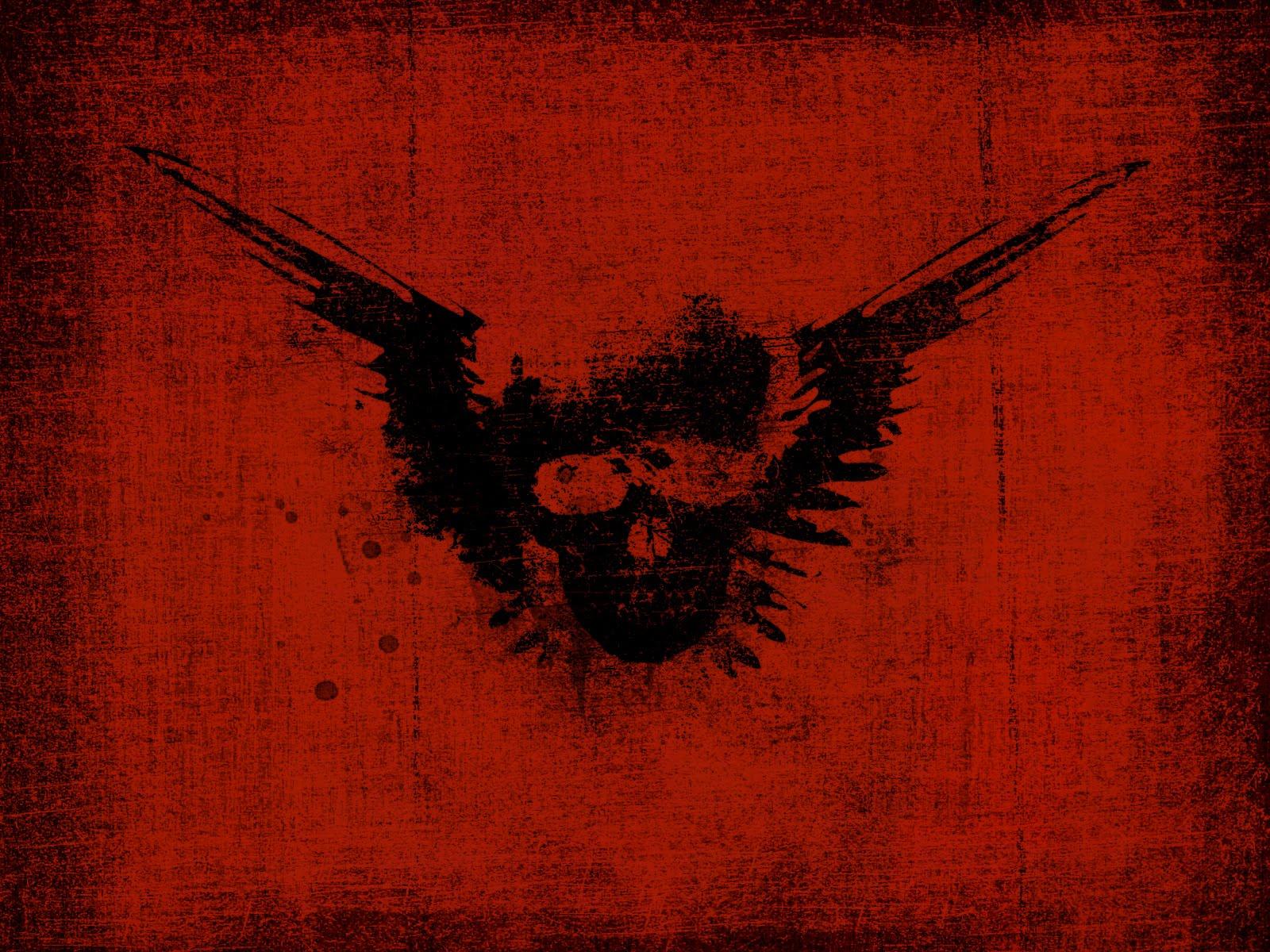 Black 21 Red Skull Wallpaper