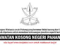 Jawatan Kosong di Negeri Pahang Darul Makmur