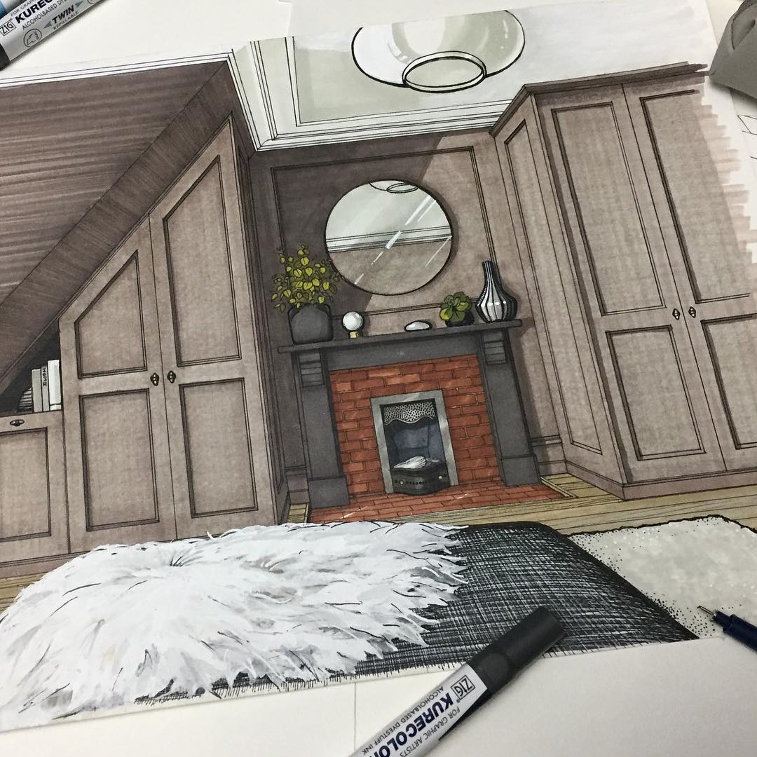 12-Master-Bedroom-Detail-Malcolm-Begg-Interior-Design-Drawings-of-a-Victorian-House-www-designstack-co