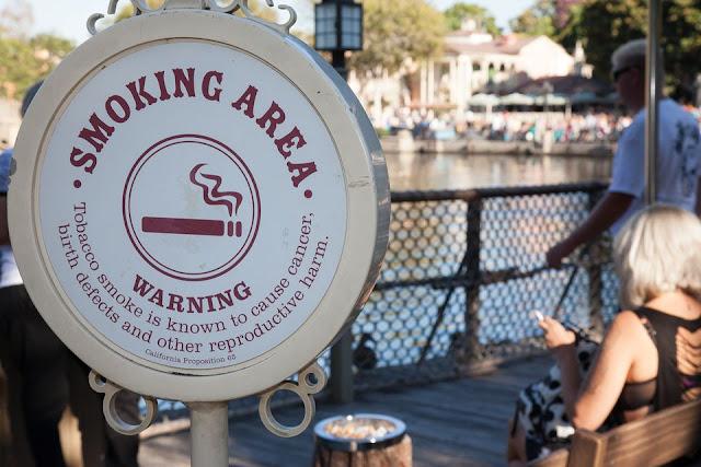 Smoking area da Disney - Regras e restrições