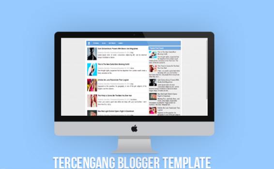 Tercengang Blogger template seo Responsive